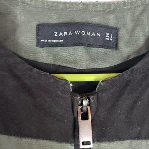 Zara Woman Utility jacket oversized Small Cotton